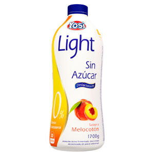 Yosil ight melocoton botella 1700 yogurt sin azucar