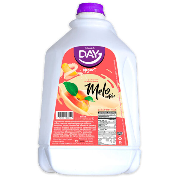 yogurt fruta melocoton garrafa 4000g day la pruebita