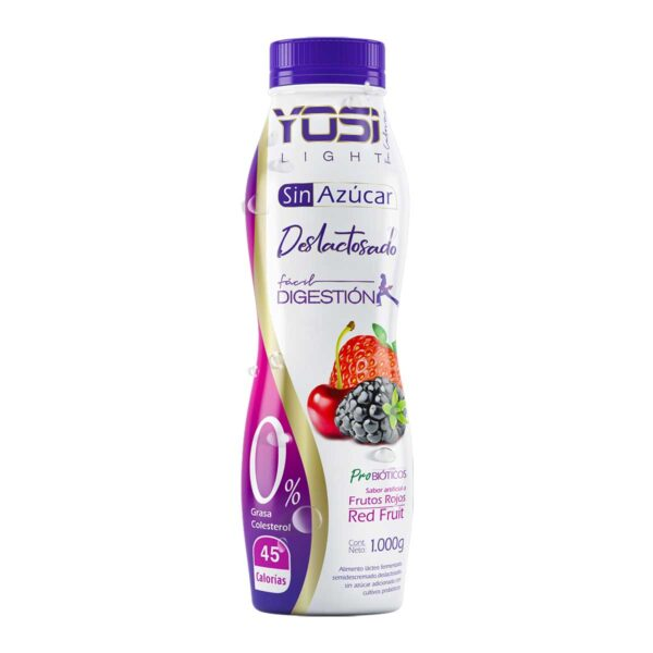 yosi light frutos rojos yogurt sin azucar