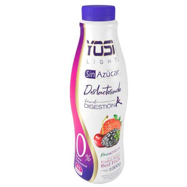 Yogurt sin azucar apto para diabeticos bogota yosi light frutos rojos