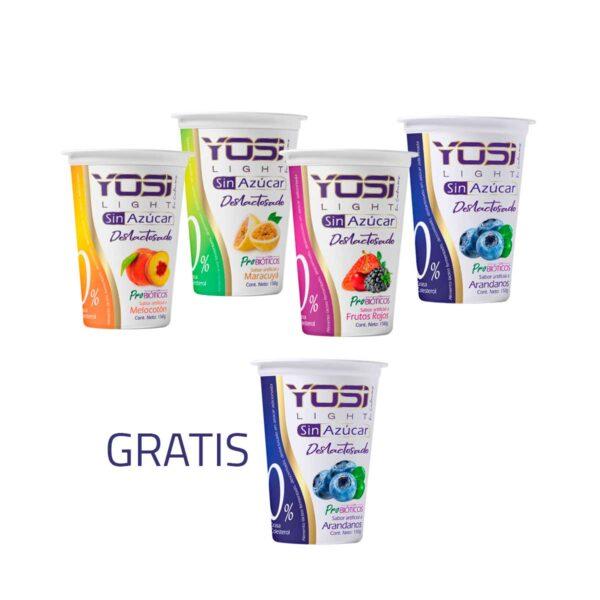 Yosi light arandanos vaso 150 yogurt sin azucar